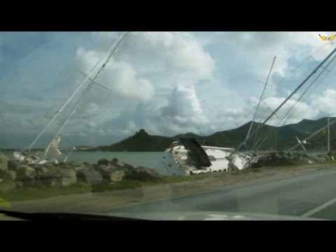 Category 3 Hurricane Gonzalo Smashes St Maarten Before During Aftermath