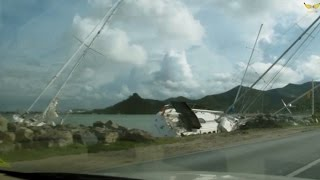 Category 3 Hurricane Gonzalo Smashes St. Maarten - Before, During & Aftermath