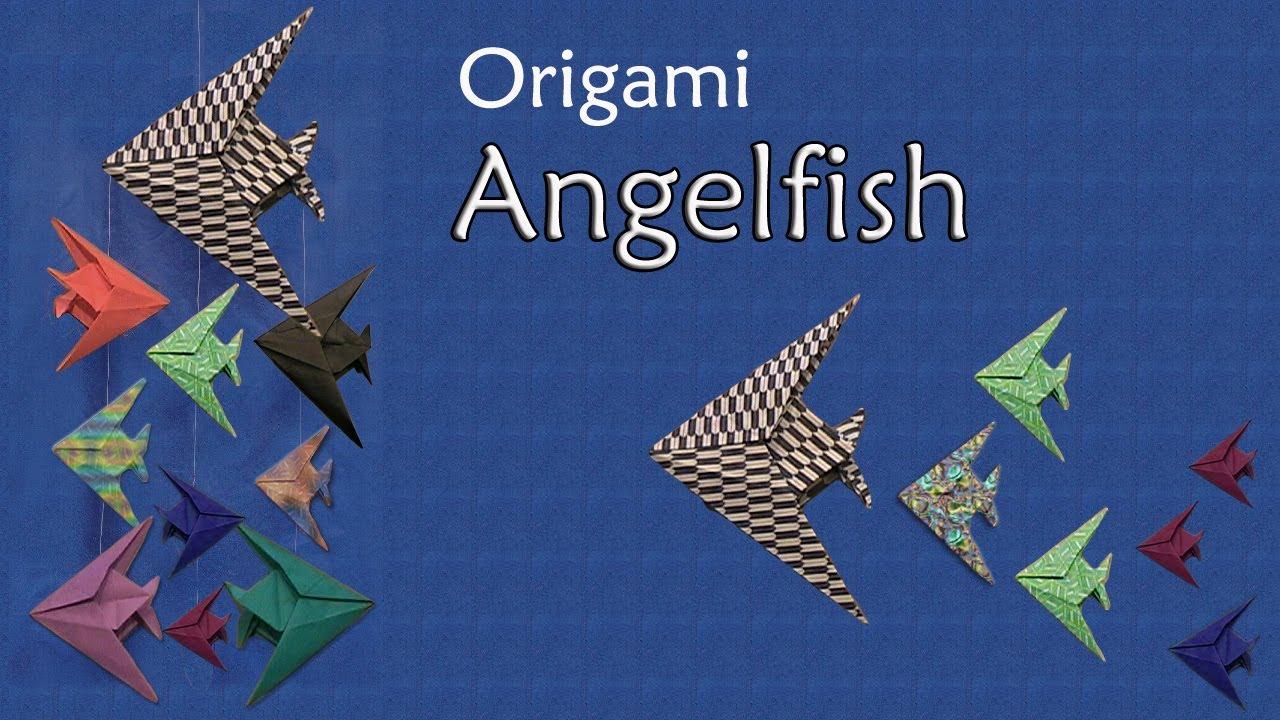 Origami    Angelfish by John Montroll  YouTube