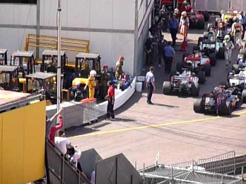 Jenson Button Parks in Wrong Space Monaco Grand Prix 2009 Sectuer Rocher