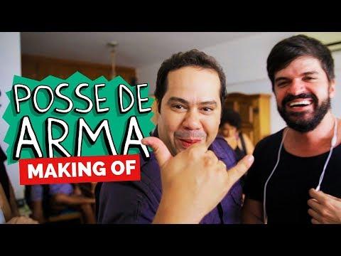 MAKING OF - POSSE DE ARMA Vídeos de zueiras e brincadeiras: zuera, video clips, brincadeiras, pegadinhas, lançamentos, vídeos, sustos