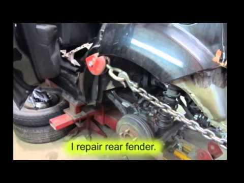 Dodge Caliber Ремонт задней части машины после дтп