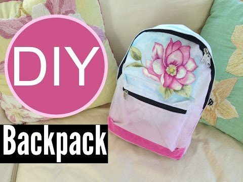 DIY Ombre Backpack for Back to School