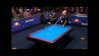 Amazing rack  of 9Ball pool Mosconi Cup 2012