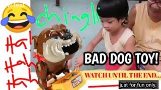 FUNNY VIDEOS|BAD DOG TOY| UMIYAK SA GULAT NG KAGATIN SYA HABANG NAGLALARO.