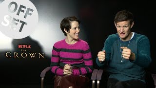 Claire Foy and Matt Smith teach us how to befriend The Crown