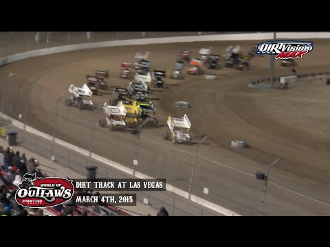 For more information and full results: www.woosprint.com For extended race highlights: www.TheCushion.com  Relive the highlights from the World of Outlaws Sprint Car Series A-Main at the Dirt Track at Las Vegas in Las Vegas, NV on March 4th, 2015! - dirt track racing video image
