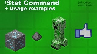 /stat command tutorial Minecraft 1.8