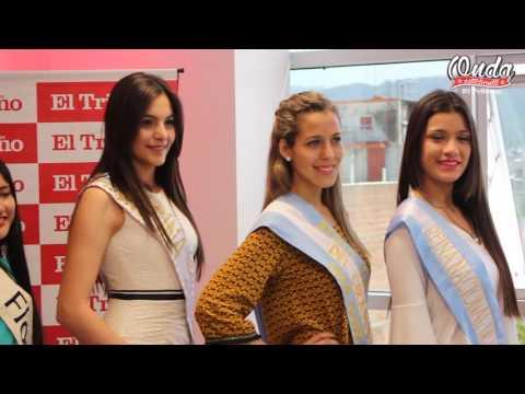 Candidatas a Reina Nacional visitaron El Tribuno de Jujuy