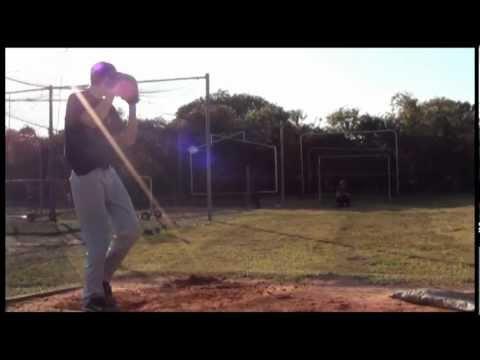 Matt Schaefer Pitching Indian Rocks Christian School Baseball - 12/19/2012