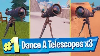 Dance At Different Telescopes Locations - Fortnite (Storm Racer Challenge)