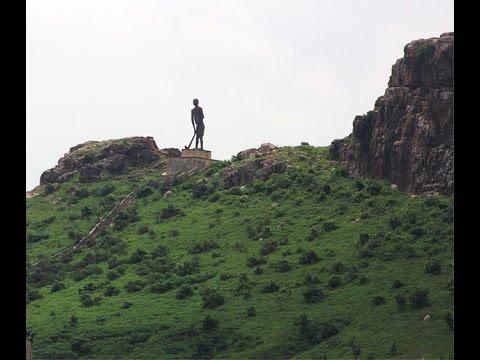 Hockey magician Dhyan Chand's statue at Sipri hill, Jhansi