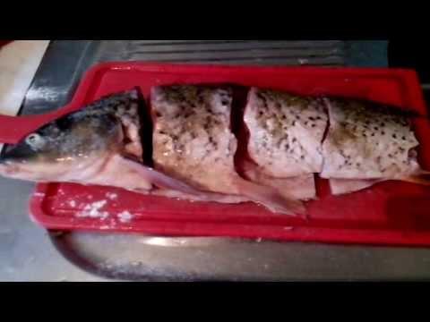 Как жарить рыбу вкусно!  Сазан.