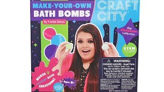 Craft City Make Your Own Bath Bombs by Karin Garcia Unboxing Toy Review