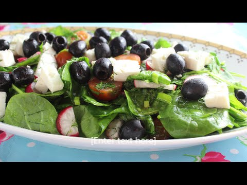 How To Make Spinach Salad;;سلطة السبانخ Music Videos