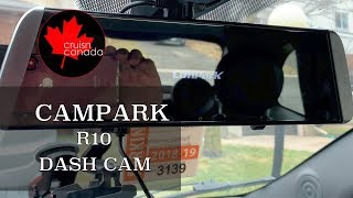 Campark R10 1080p Rear View Mirror Dash Cam | Best Dash Cam for 2019?