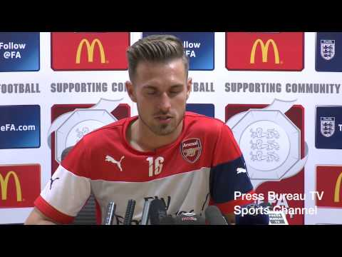 Aaron Ramsey pre Arsenal vs Man City Charity Shield