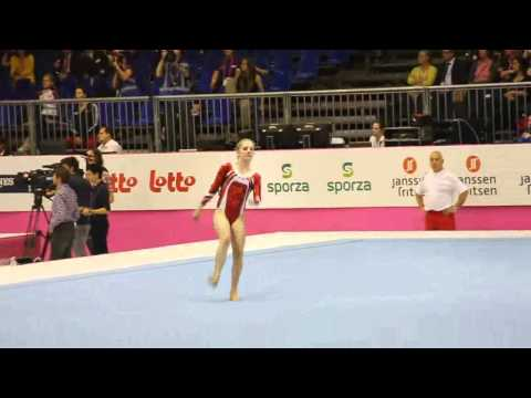 Nadia MUELHAUSER SUI, Floor Senior Qualification, European Gymnastics Championships 2012