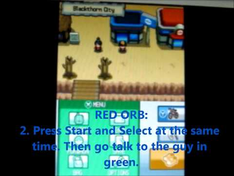 Pokemon Soul Silver/Heart Gold: How to get Red/Blue/Jade orb