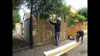 Montage sichtschutz aus bambus www bambus nl 00 49