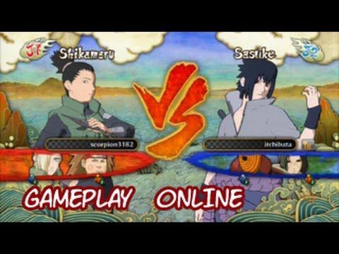 Naruto Ultimate ninja storm 3 Online  Shikamaru VS Sasuke EMS Gameplay PS3 Xbox360