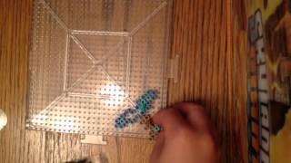 Perler diamond sword build