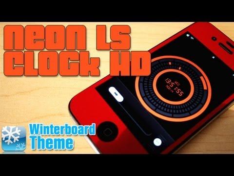 Neon LS Clock HD Super Theme Para Tu Lockscreen iPhone 4 4s y iPod Touch 4g