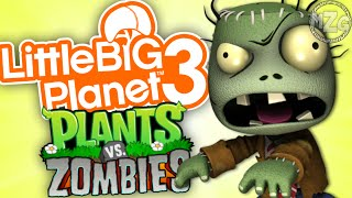 Plants vs. Zombies!? - LittleBigPlanet 3 Community Levels (Let's Play Playthrough)