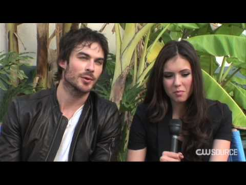The Vampire Diaries Nina and Ian dish about the season finale Video