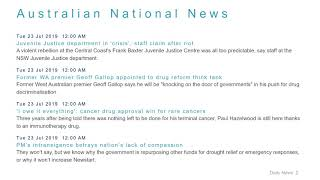 National News Headlines for 23 Jul 2019 - 8 AM Edition