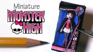 Miniature Monster High Polymer Clay Tutorial (Draculaura)