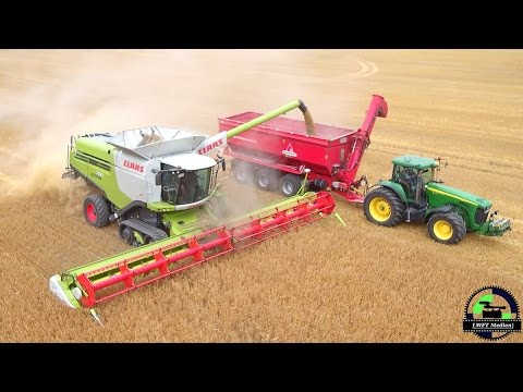 (Music/Sound) ERNTE 2016 / 4x Claas Lexion 780 Combine harvester  BIG Barley harvest 2016