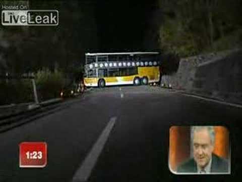 Como dar la vuelta a un autobus de dos pisos