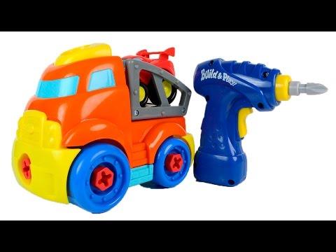 Машинки Cars Собираем машинку - грузовик. Развивающий мультик про машинку. Cars cartoon