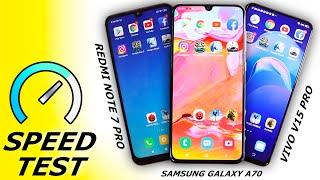 Samsung Galaxy A70 vs Vivo V15 Pro vs Redmi Note 7 Pro Battle of the Snapdragon 675 beasts
