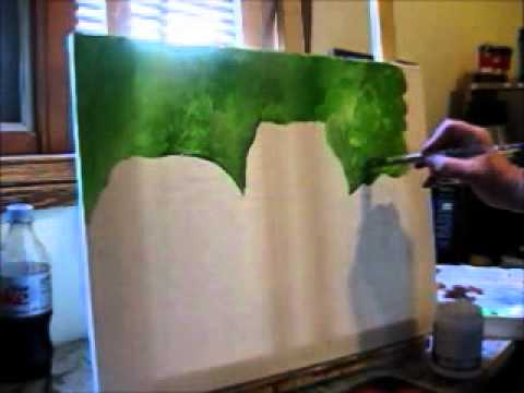 acrylic painting lessons how to do blurry background