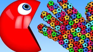 Learn Colour Pacman And Hand Soccer Ball For kid's