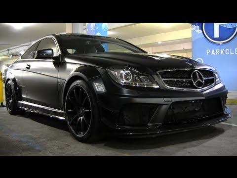 Mercedes Benz C63 Amg Black Series Flat Black Youtube