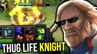 THUG LIFE KNIGHT..!! Hard Carry Omni Knight Right Click 7.21d | Dota 2