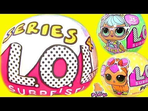 Сюрпризы ЛОЛ Своими Руками LOL Surprise Series 4 Куклы ЛОЛ. Питомцы | Игрушки Май Тойс Пинк