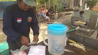 indramayu street food Jajan es tebu Manis legit