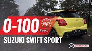 2018 Suzuki Swift Sport 0-100km/h & engine sound (manual vs auto)