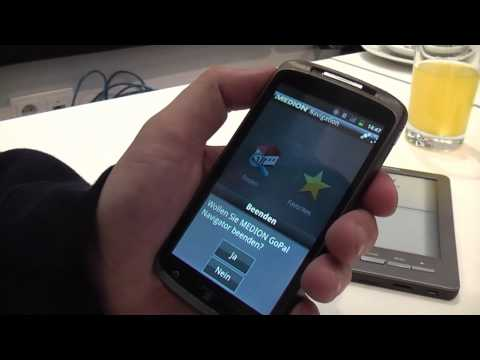 Medion 4.3inch Smartphone running Android 2.3 at IFA 2011 (BASE Lutea 2)