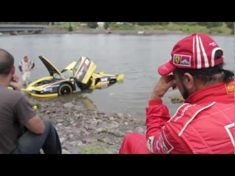 Ferrari Enzo FXX Crash into fence and lands in ocean.. Newfoundland Targa Rally