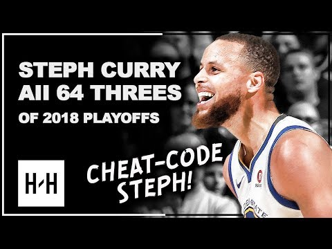 Stephen Curry ALL 64 Three-Pointers in 2018 Playoffs, CHEAT-CODE Steph!