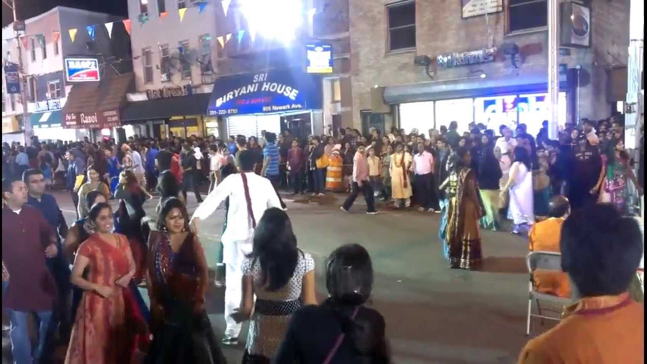 Navratri 2013 Indian Street Jersey City Nj Youtube