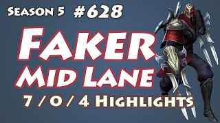 SKT T1 Faker - Zed vs Lissandra - SSG Crown, KR LOL SoloQ Highlights