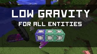 [1.10] Low Gravity for All Entities, With Only 3 Commands! + Map Teaser | Minecraft