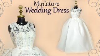 How to: Mini Wedding Dress - Doll / Barbie Tutorial