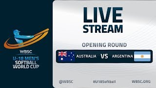 Australia v Argentina U18 Mens Softball World Cup 2020 Opening Round